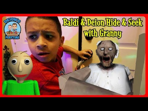 BALDI and GRANNY HIDE AND SEEK | DEION'S PLAYTIME