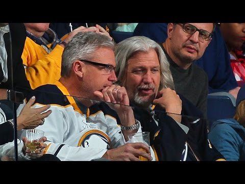 Rob and Rex Ryan attend the Sabres game