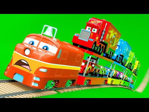 Cars & Trucks on Train – And other Little Cars change color wrong Wheels, Color Garage stories