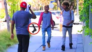 Top 5 ~ In The Hood Pranks GONE WRONG Compilation! | Messing With Big Thugs! 😈🔥