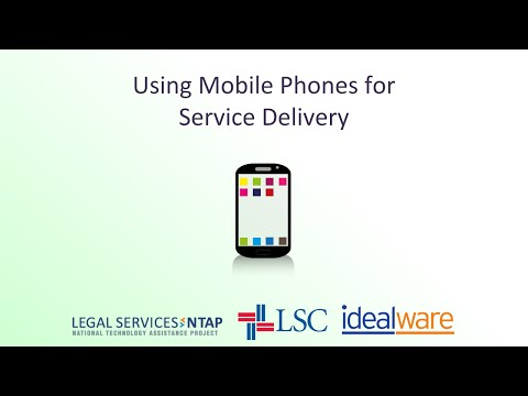 Using Mobile Phones for Service Delivery