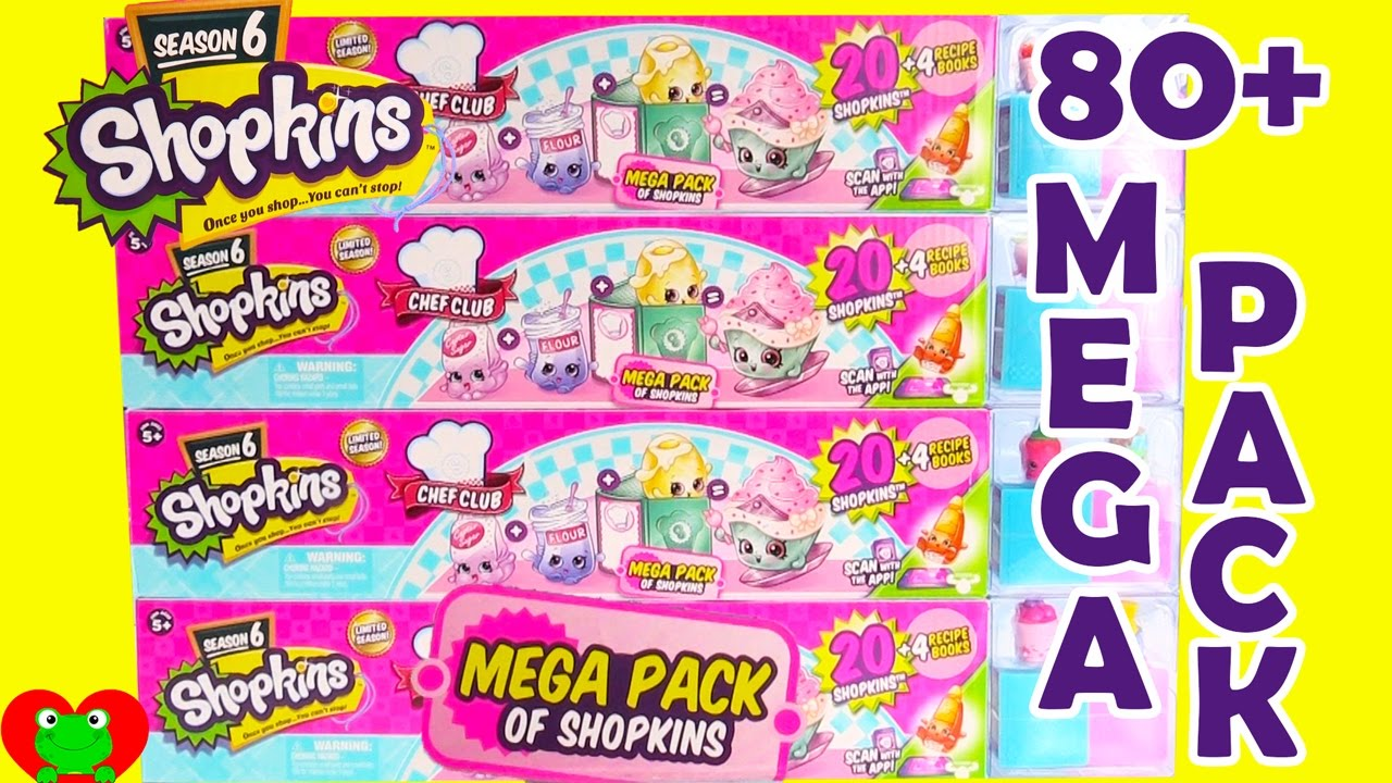 b3d257f591 Shopkins Season 6 Mega Packs with Color Changing 12 Pack - YouTube