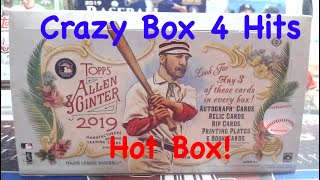 2019 Topps Allen & Ginter Hobby Box ** Hot Box + 4 Hits! + #/10 Sp = Crazy Box check it out!