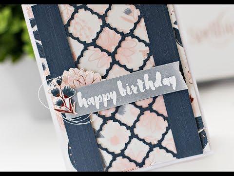 Spellbinders - Happy Birthday card tutorial