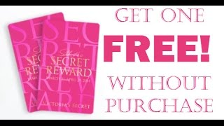 GET YOUR VERY OWN VS SECRET REWARD CARD FOR FREE!