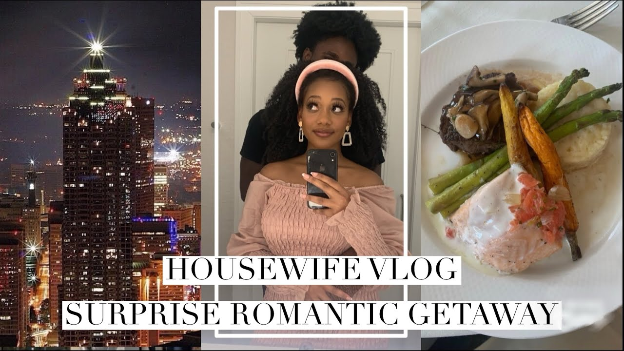 MY HUSBAND SURPRISED ME with a WEEKEND GETAWAY🎀 Black Homemaker Vlog Marriage Q & A! Dior Makeup