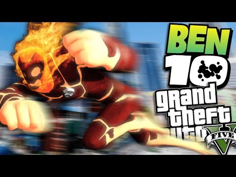 "GTA 5 Mods - BEN 10 ""HEATBLAST"" MOD (GTA 5 Mods Gameplay)"