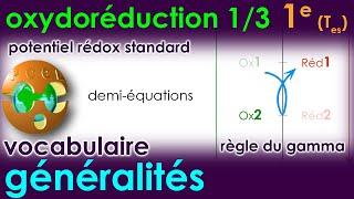OXYDORÉDUCTION 1/3 - Généralités - Potentiel rédox - Pile   1e Spé Physique-Chimie 2019   TS