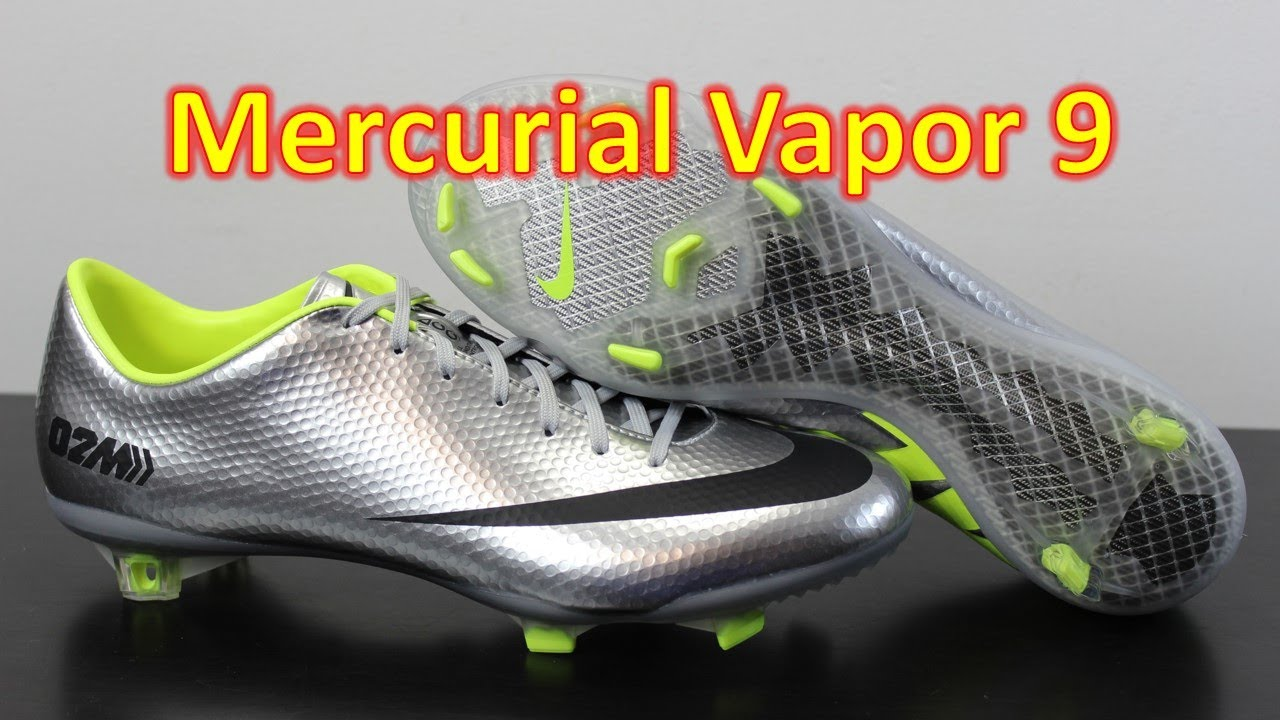 sale retailer d1399 66ef0 Nike Mercurial Vapor 9 02M Metallic SilverBlackVolt - Unboxing + On Feet  - YouTube