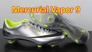 Nike Mercurial Vapor 9 02M Metallic Silver Black Volt - Unboxing + On Feet 13f67ab6dffc5