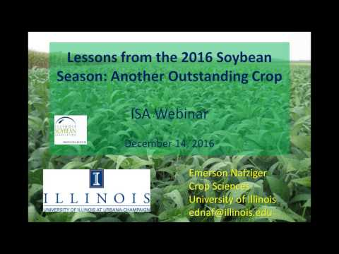Webinar: Lessons From the 2016 Soybean Season - Another Outstanding Crop