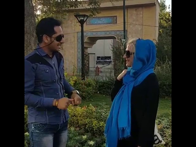 Polish lady speaking beautiful persian and invite you to Iran.  Ahmad janati tour guide احمد جنتی