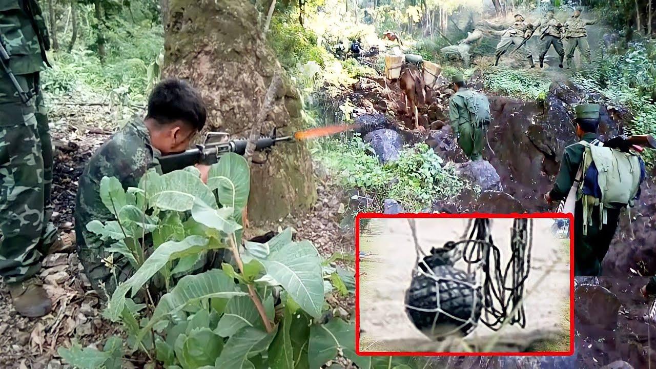 ทหารคะฉิ่นKIAวางอาวุธใหญ่ไว้ข้างทาง/ทหารมินอ่องลายดับ 7 นาย/PDF เอาคืน ถล่มฐานพม่า