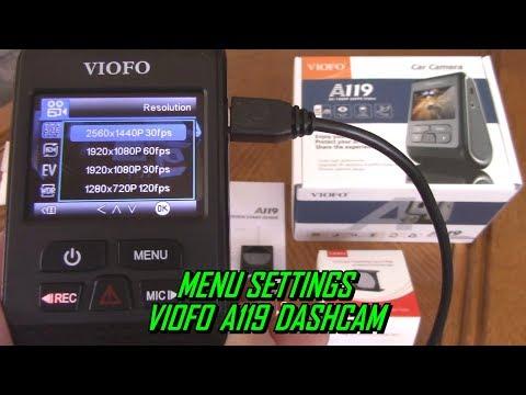 Menu Settings Setup VIOFO A119 DashCam