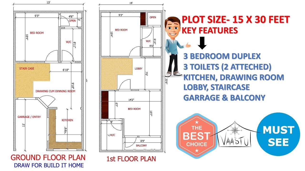 21 x 21 house plan   Basement + 21 BHK house plan   BUILD IT HOME ...