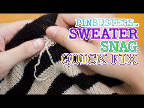 How To Fix A Sweater Snag With A Hair Pin Does It Work Youtube