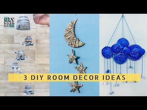3 Newspaper Wall Hanging Ideas | Best Out Of Waste Crafts | DIY Home Decor