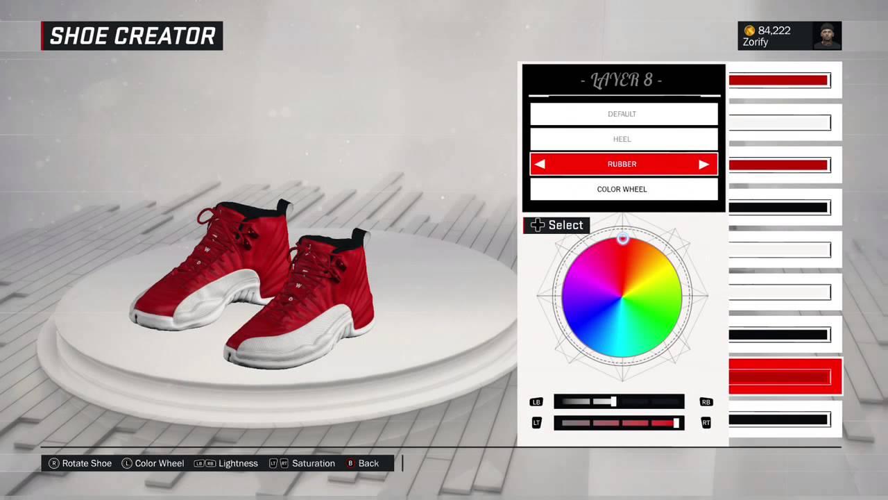 ... store nba 2k17 shoe creator air jordan 12 gym red c74b1 f6999 6a4ed1291