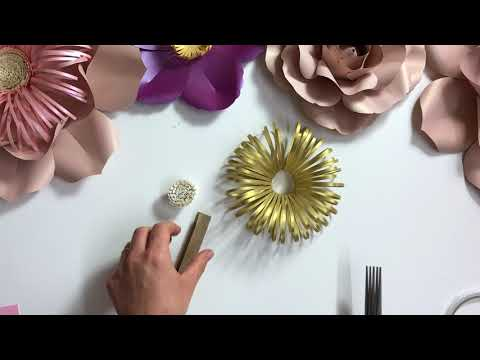 Fluffy loopy paper flower centre_how to make a paper flower centre