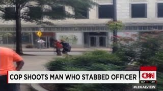 Man stabs cop, officer then shoots him