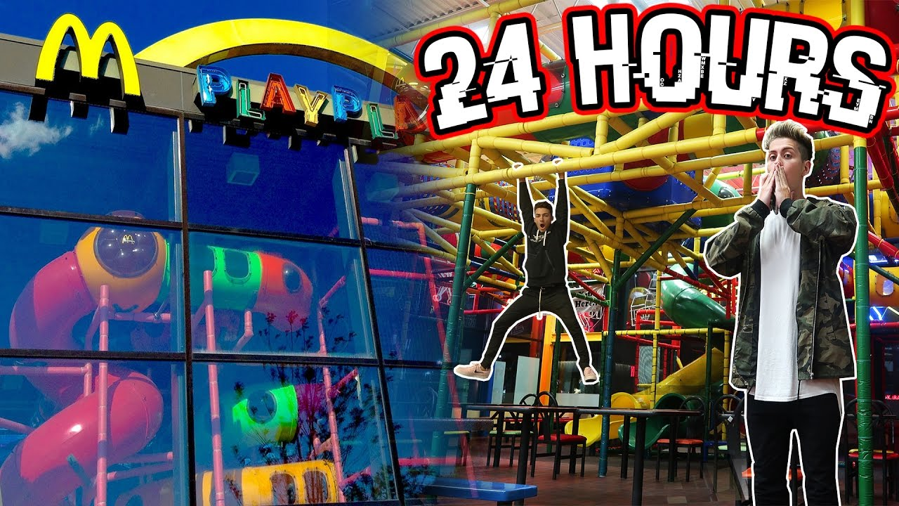 24 HOUR OVERNIGHT in MCDONALDS PLAYPLACE | MOST FUN ...