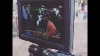 Filmando en Santiago de Chile