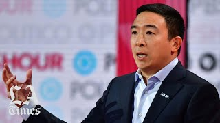 Businessman andrew yang was asked what kind of message having mostly white candidates on the debate stage sending to voters colors, who make up a core...