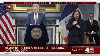 5 Dead in NYC, Schools Closing Due to Coronavirus – See Full De Blasio News Conference