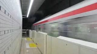つくばエクスプレス六町駅快速列車通過シーン