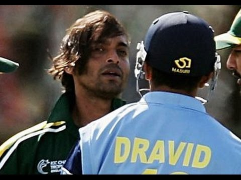 Cricket Fight - Shoib akhtar vs Rahul dravid fight