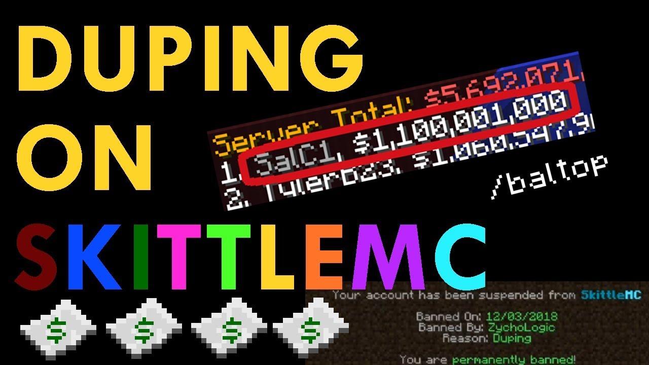 Minecraft Duping - SkittleMC