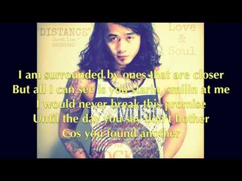 "Jireh Lim - ""Distance"" Lyrics"