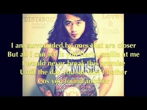 "Jireh Lim - ""Distance"" Lyrics"