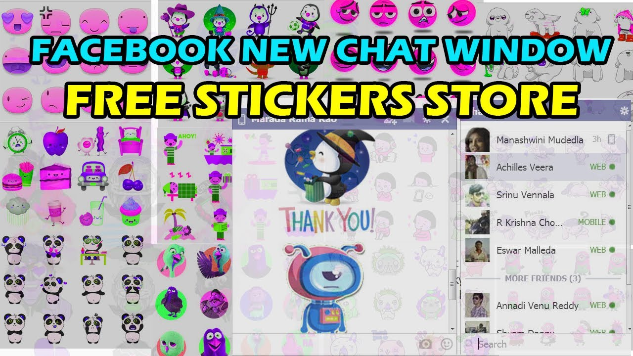 chat for facebook sticker store