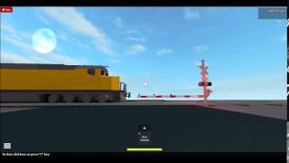 Roblox Railfanning: UP Power move DD40AX as leader with surprise at end!!!