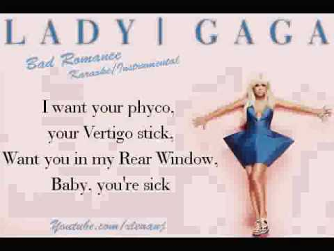 Lady GaGa - Bad Romance HQ Instrumental  Karaoke  .wmv