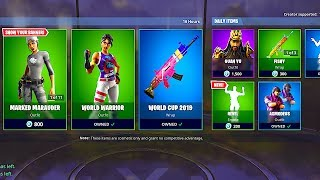 *NEW* FORTNITE ITEM SHOP UPDATE NOW LIVE! (July 25th ITEM SHOP NEW FREE WORLD CUP SKINS)
