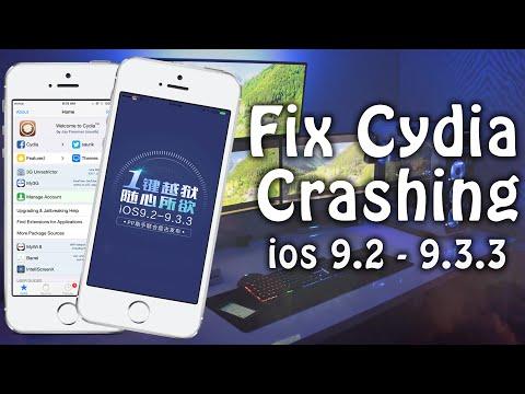 Fix Cydia Crashing after Jailbreaking iOS 9.2, 9.2.1, 9.3, 9.3.2, 9.3.3