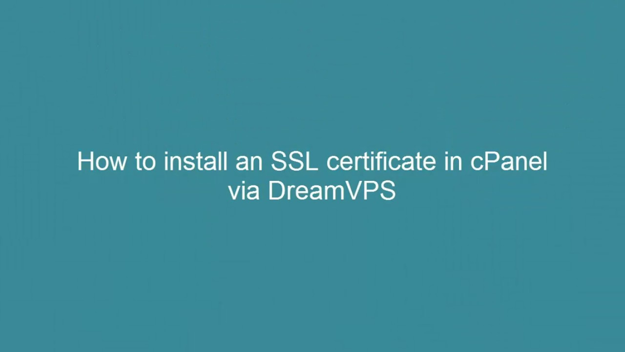 How to install an ssl certificate in cpanel 2017 youtube how to install an ssl certificate in cpanel 2017 1betcityfo Images