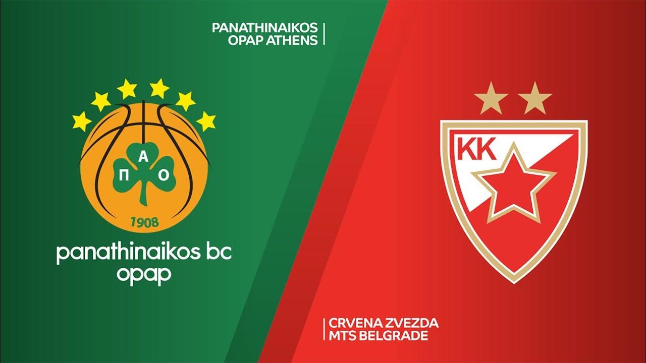 Panathinaikos OPAP Athens - Crvena Zvezda mts Belgrade Highlights | EuroLeague, RS Round 1