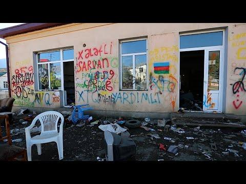 Карабах: победные граффити в разрушенном Гадруте