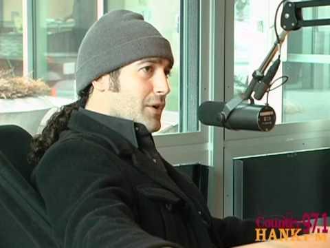Josh Thompson in the HANK FM Studios