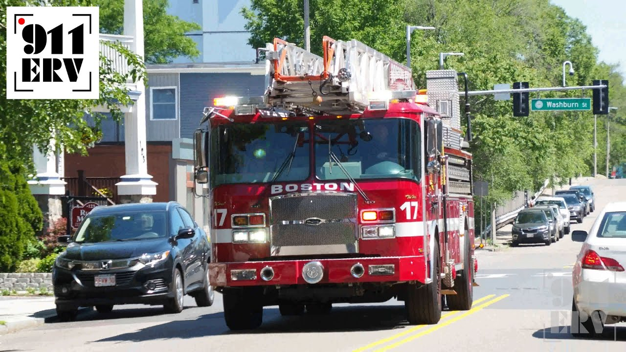 Boston Fire Department Engine 4 and Ladder 24 Responding