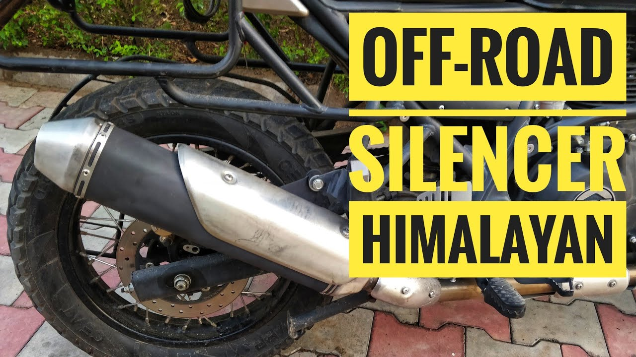 royal enfield off road free flow performance exhaust for himalayan