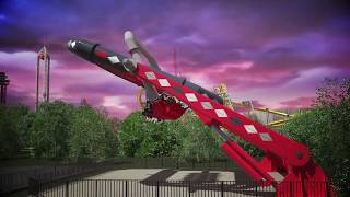 HARLEY QUINN Spinsanity ride reveal at Six Flags Great Adventure