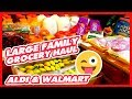 Large Family Grocery Haul | ALDI & Walmart | Grocery Therapy Needed 😜