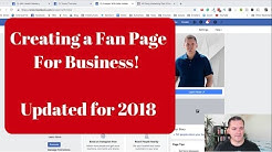 How To Create a Facebook Fan Page For Your Business 2018 | Mike Hobbs