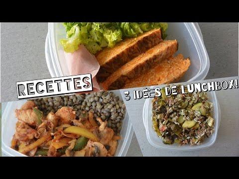 [ Recette healthy N°12 ] 3 idées de Lunch Box !
