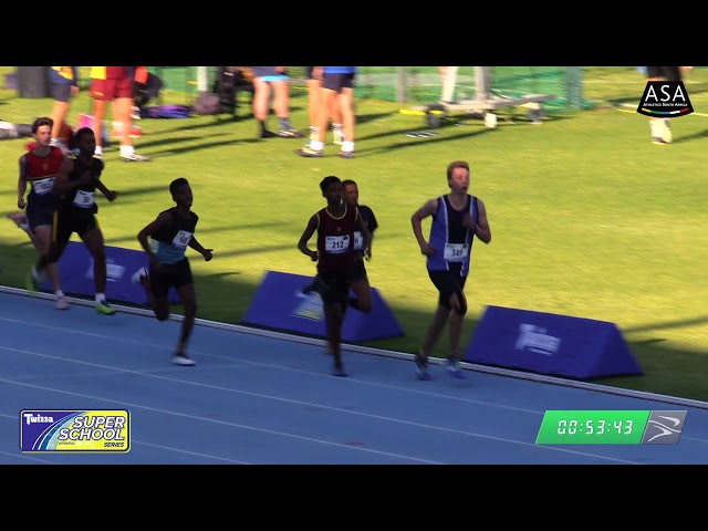 Final Boys u16 800m - 2019 Twizza SuperSchoolSeries Greenpoint