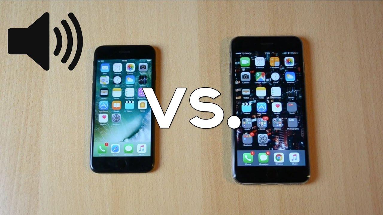 Apple IPhone 7 Vs Plus Sound Speaker Comparison